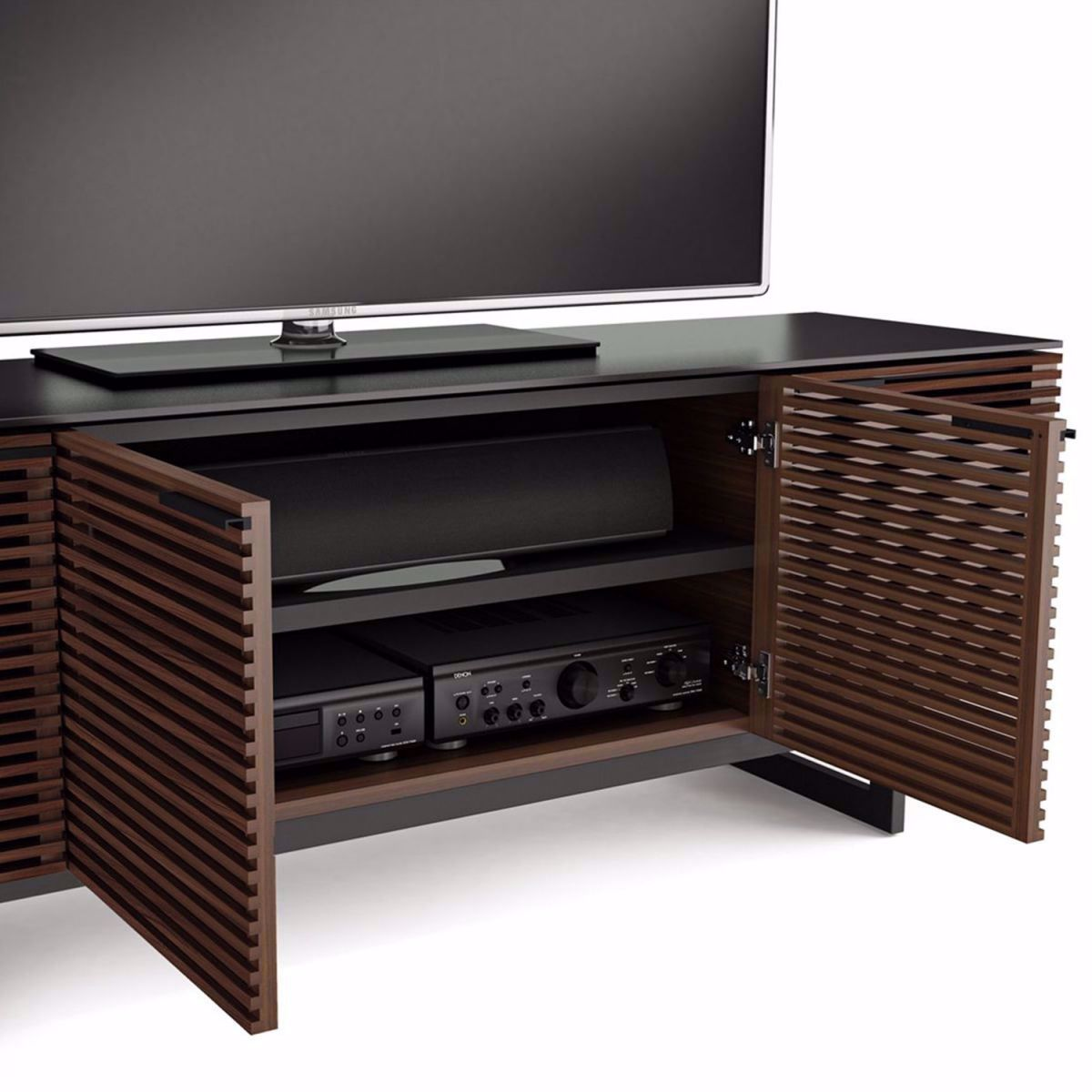simple media console with storage