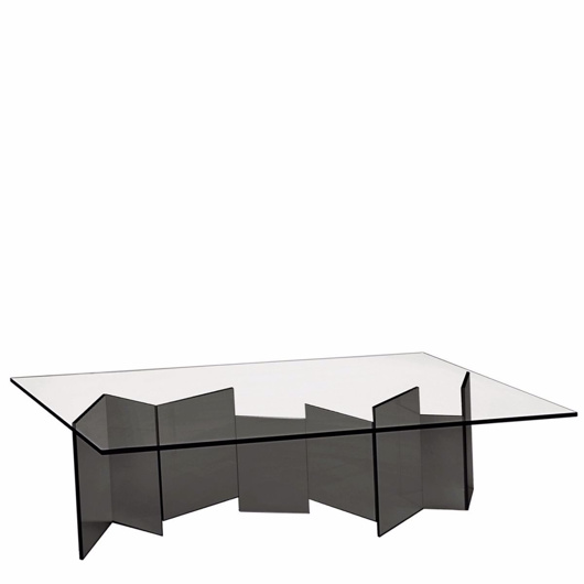 sleek glass coffee table