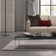 natural rug in modern room