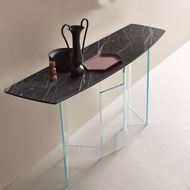 trendy marble console table