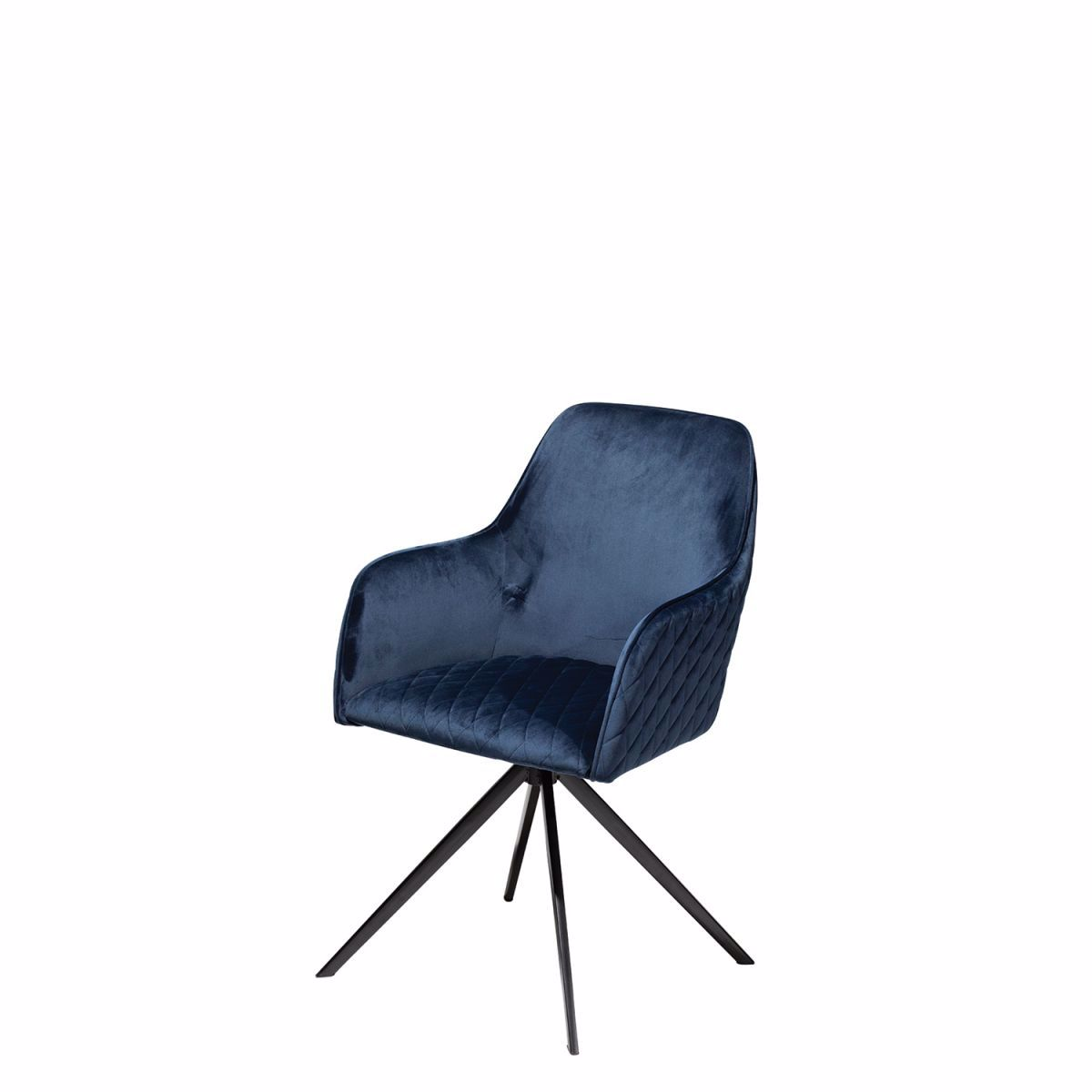Picture of TWINE Swivel Chair - Blue Velvet