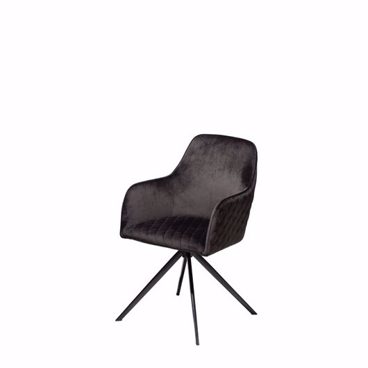 Picture of TWINE Swivel Chair - Black Velvet