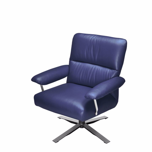 Picture of ELIS RECLINER LEA FC46 BLUE