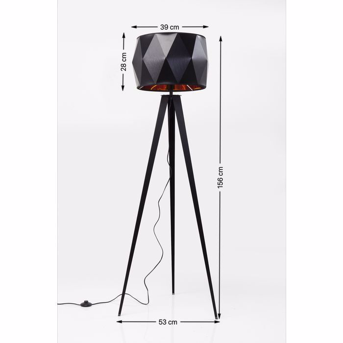 Picture of Straight Tripod Floor Lamp - Matt Black