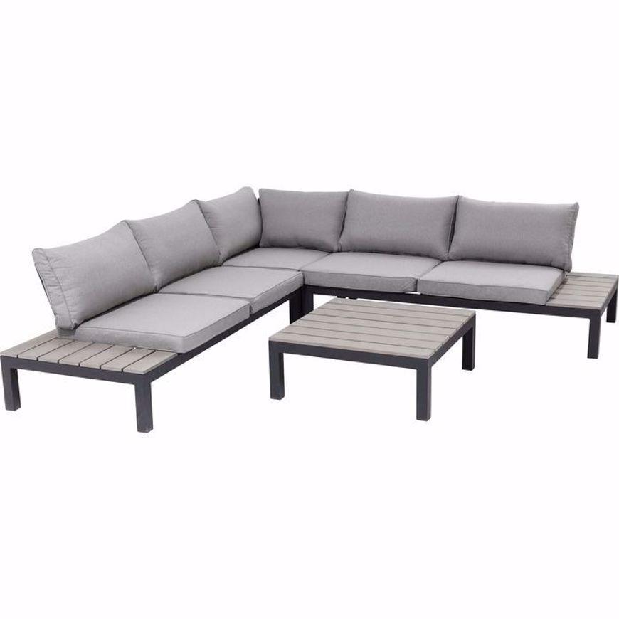 图片 Holiday 4 Piece Outdoor Sofa Set - Black