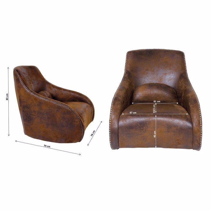 Picture of Ritmo Swing Armchair - Vintage Brown