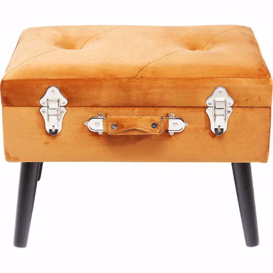 Image sur Suitcase Foot Stool - Orange