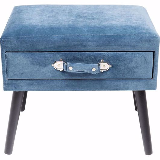 Image de Drawer Foot Stool - Blue