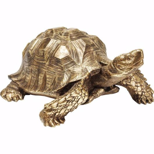 图片 Big Turtle Deco Figurine - Gold