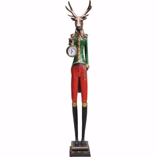 图片 Gentleman Deer Table Clock