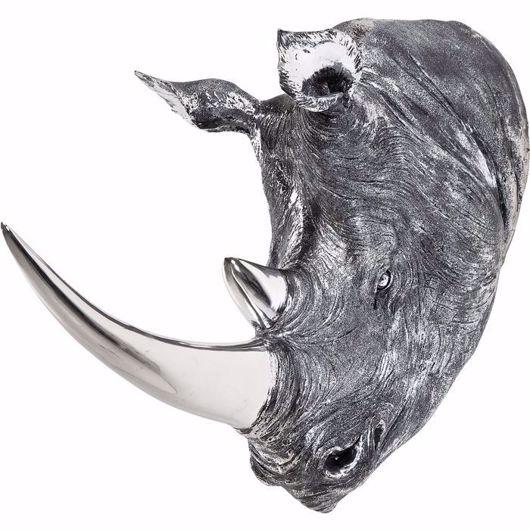 Image de Deco Rhino Head - Antique Silver