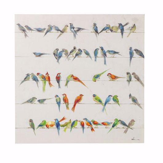 Picture of Birds Meeting Hand Touched Square
