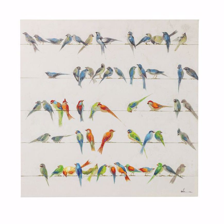 图片 Birds Meeting Hand Touched Square