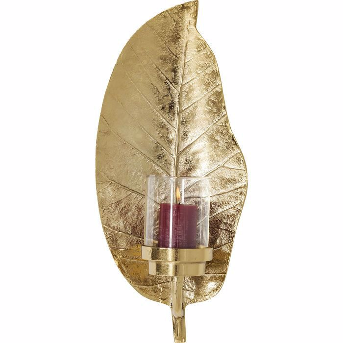 Picture of Leaf Lantern - Gold
