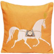 Picture of Classy Horse Cushion - Orange