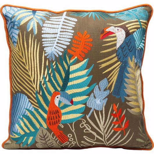 图片 Exotic Parrots Cushion