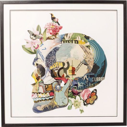 图片 Skull Framed Art