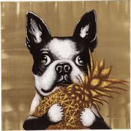 图片 Dog with Pineapple Hand Touched
