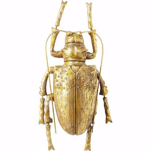 图片 Longicorn Beetle Wall Decoration - Gold