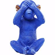 Picture of Mizaru Monkey Money Box - Blue