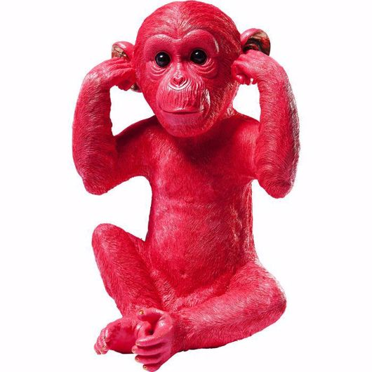 图片 Kikazaru Monkey Money Box - Red
