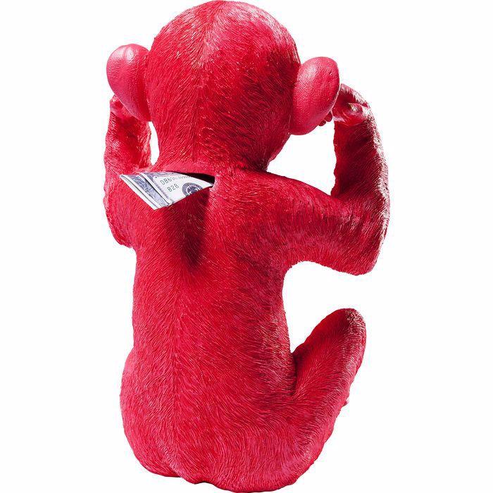 Picture of Kikazaru Monkey Money Box - Red