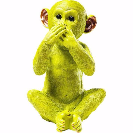 图片 Iwazaru Monkey Money Box - Lime