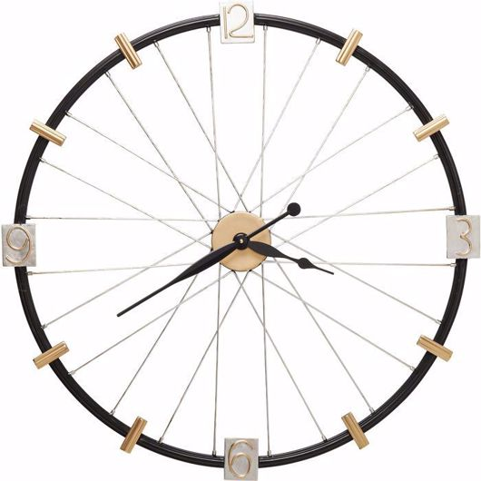 图片 Spoke Wheel Wall Clock