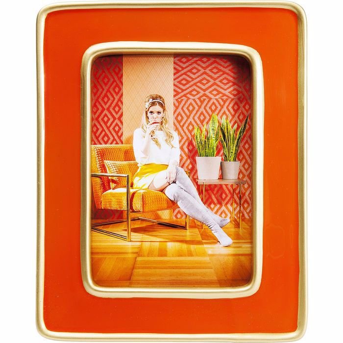 Picture of Zebra Frame - Orange