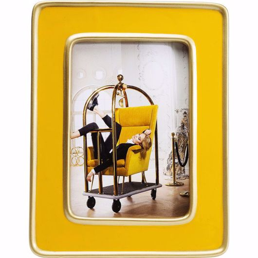 Picture of Zebra Frame - Yellow