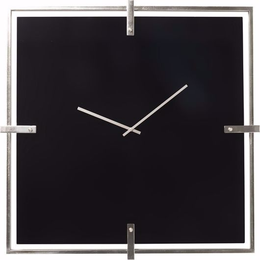 Picture of Black Mamba Wall Clock - Chrome