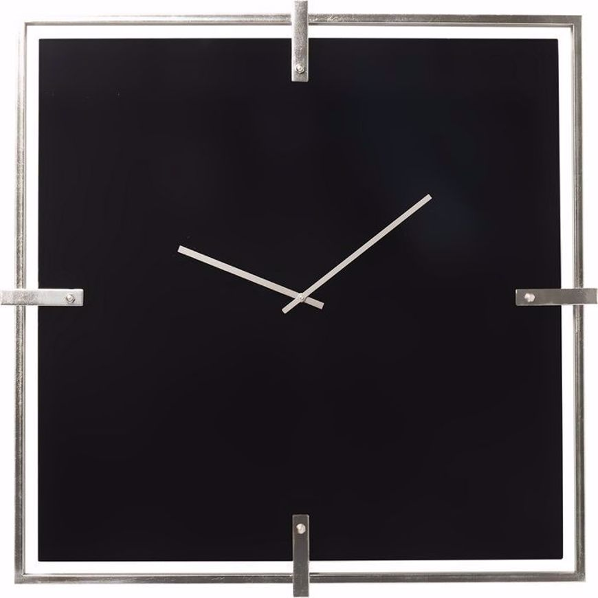 Image sur Black Mamba Wall Clock - Chrome