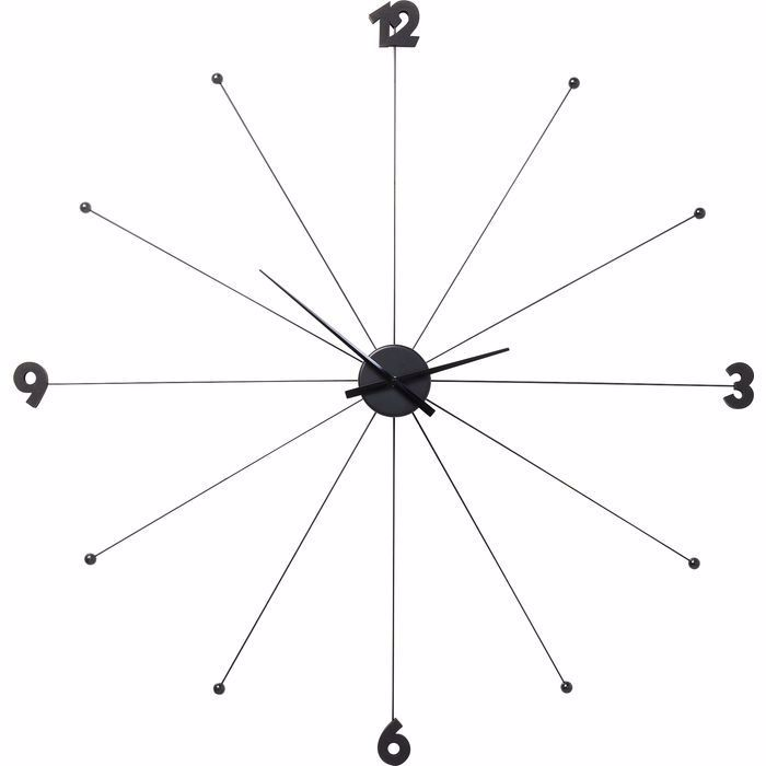 Image sur Umbrella Like Wall Clock - Black