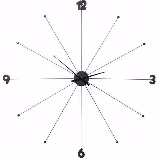 图片 Umbrella Like Wall Clock - Black