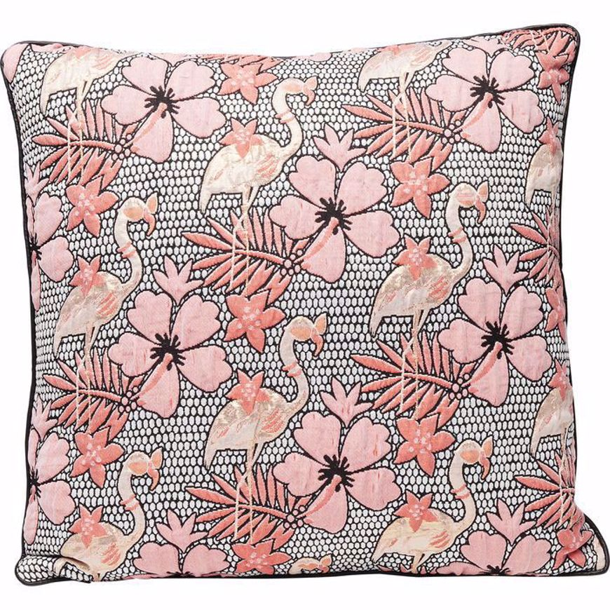 Image sur Flamingo Flowers Cushion