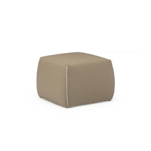 Picture of GAIA Pouf - YELLOW/BEIGE
