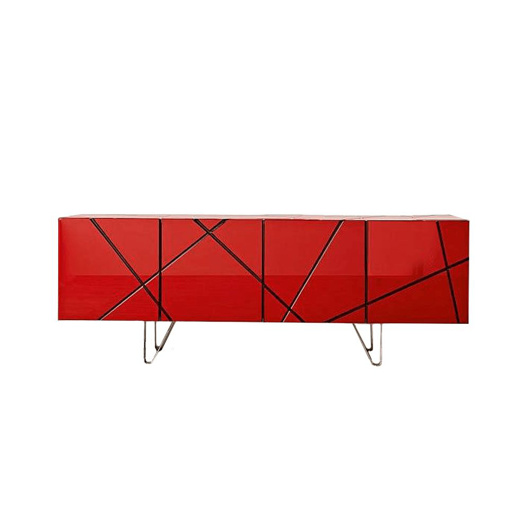 Picture of STRIPES Sideboard - Red