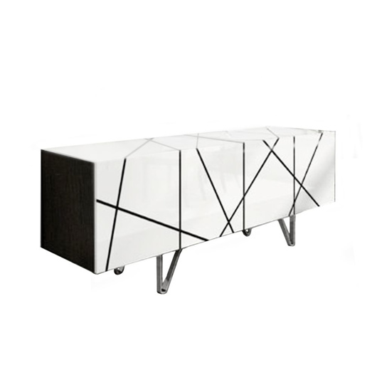 Picture of STRIPES Sideboard - White