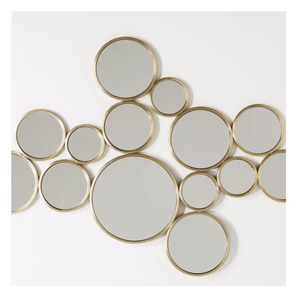 Picture of Bubbles Mirror - Brass
