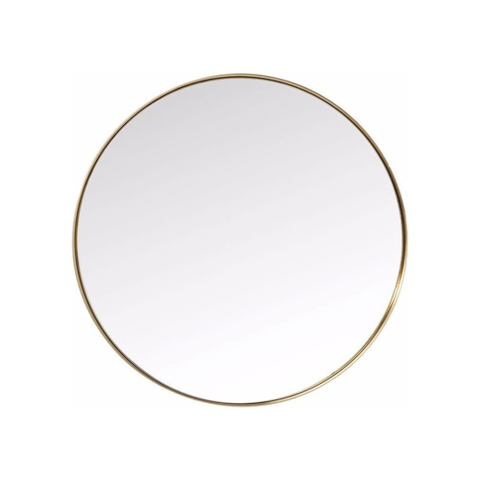 Picture of Curve 100 Round Mirror - Brass