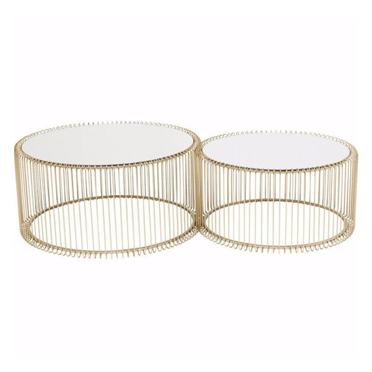 Image de Wire Coffee Table Set - Brass