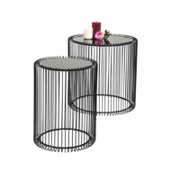 图片 Wire Side Table Set - Black
