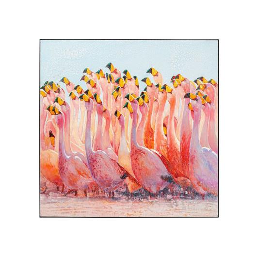 图片 Swarm Of Flamingos Acrylic Painting