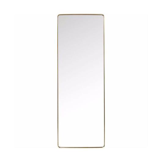 图片 Curve 200 Rectangular Mirror - Brass